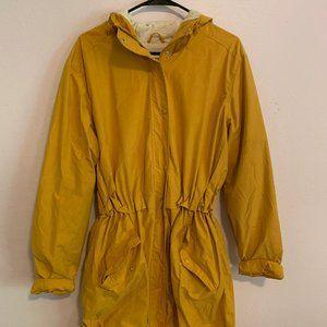 Yellow Knee Length Jacket